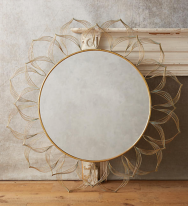 Circled Blooms Mirror