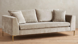 Slub Velvet Edlyn Sofa