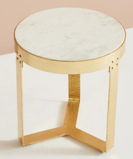 White Marble Lirit Side Table